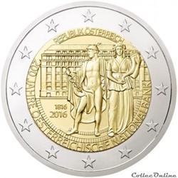 2 euro - Autriche 2016