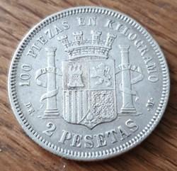 1 pesetas 1870