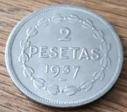 2 pesetas 1937
