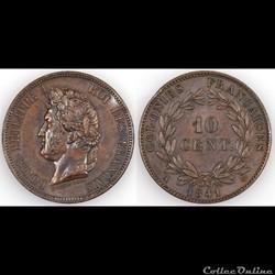 10 CENT. LOUIS-PHILIPPE I 1841 A - ESSAI
