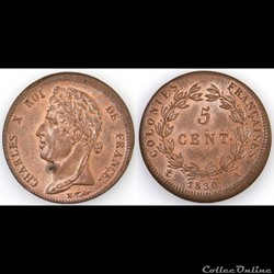 5 CENT. CHARLES X 1830 A