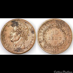 10 CENT. CHARLES X 1829 A