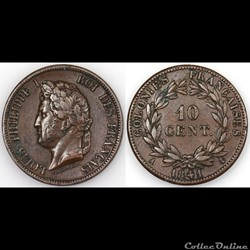 10 CENT. LOUIS-PHILIPPE I 1841 A