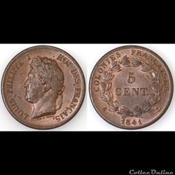 5 CENT. LOUIS-PHILIPPE I 1841 A