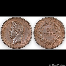10 CENT. LOUIS-PHILIPPE I 1843 A