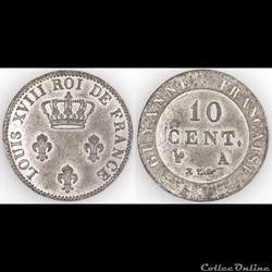 10 CENT. GUYANNE (sic) FRANCAISE ND - ES...