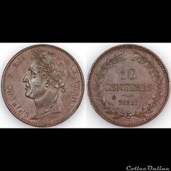 10 CENTIMES CHARLES X ND - ESSAI bronze
