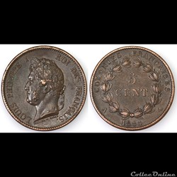 5 CENT. LOUIS-PHILIPPE I 1844 A