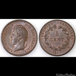 5 CENT. LOUIS-PHILIPPE I 1839 A