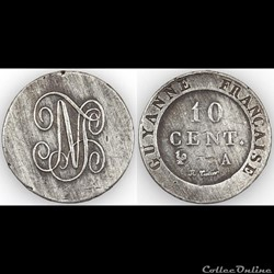 10 CENT. GUYANNE (sic) FRANCAISE ND - PI...