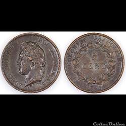 5 CENT. LOUIS-PHILIPPE I 1843 A