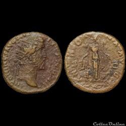 ANTONIN LE PIEUX - Dupondius - 153-154 - Rome - INEDIT