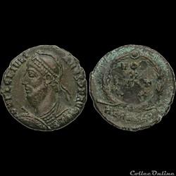 JULIEN II LE PHILOSOPHE Maiorina ou nummus - 362  363 - Héraclee - 1er officine - Ruban type 3