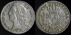 Louis XV (1715-1774) - Cinquieme d'ecu a...