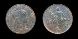 3° république (1870-1940) - 5 centimes 1...