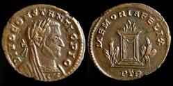 Divo Constantius, Follis