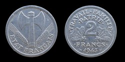 Etat français (1940-1944) - 2 francs 194...