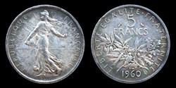 5° republique (1958- ) - 5 francs 1960