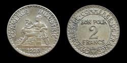3° république (1870-1940) - 2 francs 192...