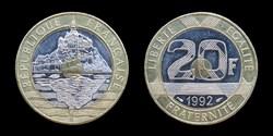 5° république (1958- ) 20 francs 1992