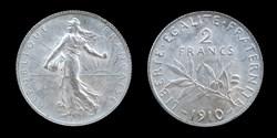 3° republique (1870-1940) - 2 francs 191...