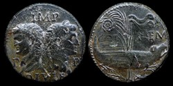 Augustus & Agrippa, AE Dupondius