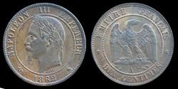 Napoleon III Empereur (1852-1870) - 10 c...