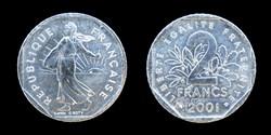 5° république (1958- ) 2 francs 2001