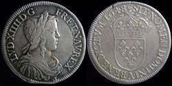 Louis XIV (1643-1715) - Demi ecu au bust...