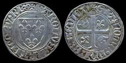 Charles VI (1380-1422) - Blanc guénar