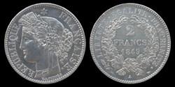 2° republique (1848-1852) - 2 francs 184...