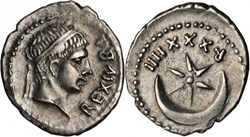 Denier - JUBA II (13 après J.-C.)