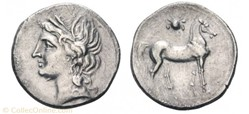 Carthage : Demi-Shekel 220 à 205 avant J...