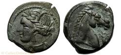 Carthage : Unité de bronze 300 à 264 ava...