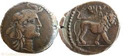 Demie unité de bronze - JUBA Ier (60-46 ...