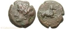 Carthage : Unité de bronze 400 à 350 ava...
