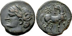Carthage : Demi-Shekel 215 à 201 avant J...