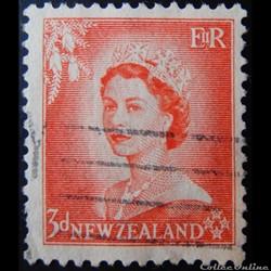 Nouvelle-Zélande 00331 reine Elisabeth II 3p de 1954