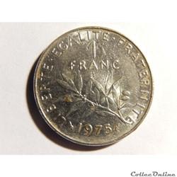 1 franc semeuse 1975