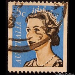 Australie 00342A Reine Elisabeth II 5c de 1967