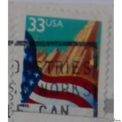 Etats Unis 02856 drapeau 33c de 1999