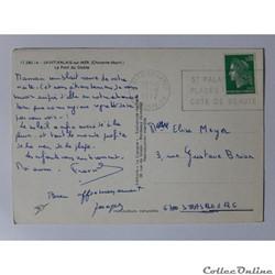 carte postale france poitou cpa de charente maritime saint palais sur mer le pont du diable
