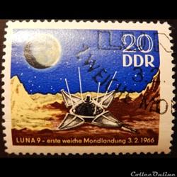 Allemagne RDA 00864 1er alunissage 20pf ...