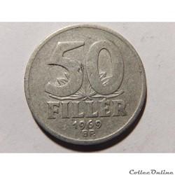 Hongrie, 50 Fillér 1969