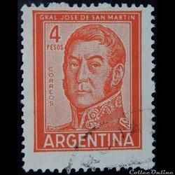 Argentine 00605A général José Francisco de San Martin 4p de 1962