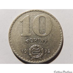 Hongrie, 10 Forint 1972