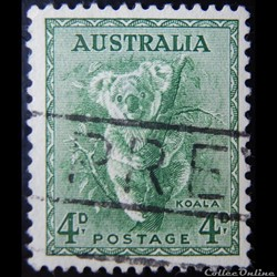 Australie 00226 Koala 4D de 1956