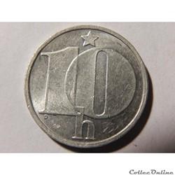 Tchécoslovaquie, 10 haléru de 1987