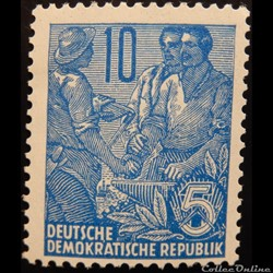 Allemagne RDA 00190 ouvriers 10pf de 195...
