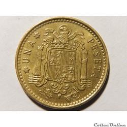 Espagne, 1 peseta de 1975, étoile 1978